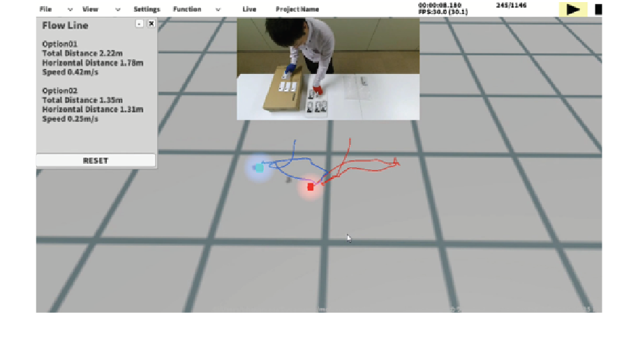 Use mcframe MOTION color tracking that captures specific movement data