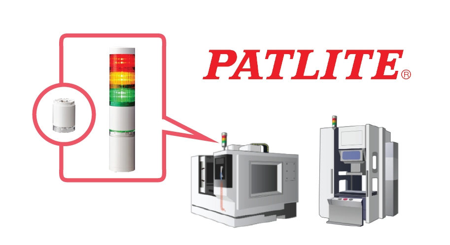 Patlite WD system with signal towers on machines